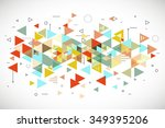 abstract modern triangle... | Shutterstock .eps vector #349395206