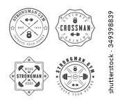 set of gym logos  labels and... | Shutterstock . vector #349398839