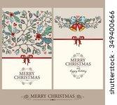 vector set  christmas cards...   Shutterstock .eps vector #349400666