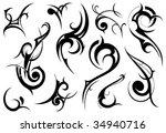 tribal set | Shutterstock .eps vector #34940716