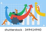 vector depicting business or... | Shutterstock .eps vector #349414940