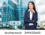 business woman smiling | Shutterstock . vector #349420640