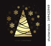 abstract gold christmas tree.  ... | Shutterstock . vector #349420949