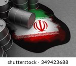 3d illustration of oil waste...   Shutterstock . vector #349423688