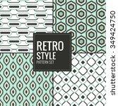 set of retro vintage pattern... | Shutterstock .eps vector #349424750