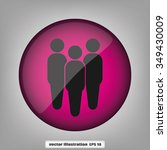 three people | Shutterstock .eps vector #349430009