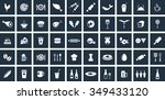 food icons set. eps 10. | Shutterstock .eps vector #349433120