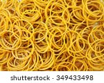 a pile of rubber bands.   Shutterstock . vector #349433498