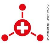 medical center vector icon.... | Shutterstock .eps vector #349449140