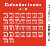 the calendar icon.  april... | Shutterstock .eps vector #349451738