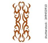 tattoo tribal vector design.... | Shutterstock .eps vector #349453910
