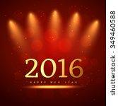 2016 happy new year | Shutterstock .eps vector #349460588