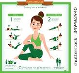 sport and fitness infographics. ... | Shutterstock .eps vector #349462940