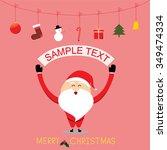 vector christmas festive santa... | Shutterstock .eps vector #349474334