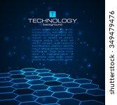 abstract hexagon technology... | Shutterstock .eps vector #349479476