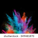 launched colorful powder ... | Shutterstock . vector #349481870