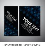 abstract blue arrow in brochure ...   Shutterstock .eps vector #349484243