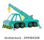 blue machine autocrane for...   Shutterstock .eps vector #349484348