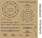 vector set nautical elements of ... | Shutterstock .eps vector #349485284