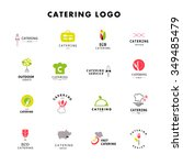 vector template of catering... | Shutterstock .eps vector #349485479