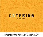 vector template of catering... | Shutterstock .eps vector #349486469