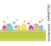 lovely easter design   Shutterstock .eps vector #349487750