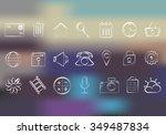 network icons | Shutterstock .eps vector #349487834