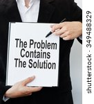 the problem contains the... | Shutterstock . vector #349488329