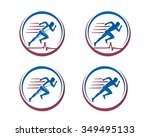 medical  sport icons of people | Shutterstock .eps vector #349495133