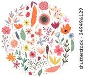 wreath illustration made of... | Shutterstock .eps vector #349496129
