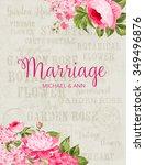 awesome vintage label. wedding... | Shutterstock .eps vector #349496876