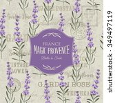lavender frame for fabric ...   Shutterstock .eps vector #349497119