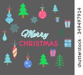 merry christmas background with ... | Shutterstock .eps vector #349497914