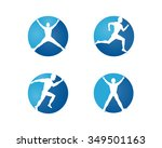 sport  medical icons of people | Shutterstock .eps vector #349501163