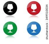 wine glass   color vector icon