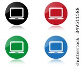 computer   color vector icon | Shutterstock .eps vector #349511588