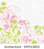 vintage invitation card with... | Shutterstock .eps vector #349513823