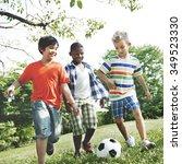 Kids Children Playing Football...