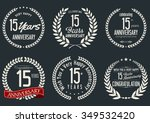 anniversary label collection 15 ... | Shutterstock .eps vector #349532420