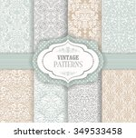 seamless background baroque... | Shutterstock .eps vector #349533458