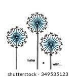 floral elements for design ... | Shutterstock .eps vector #349535123
