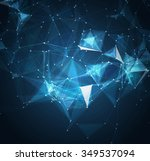 abstract mesh background with... | Shutterstock . vector #349537094