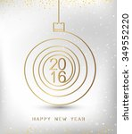 merry christmas happy new year... | Shutterstock .eps vector #349552220