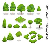 Trees Isometric. Flowers  Gras...