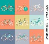vector flat modern urban  town... | Shutterstock .eps vector #349552829