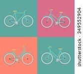 vector flat modern urban  town...   Shutterstock .eps vector #349552904