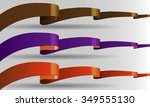 illustrated long  shining ... | Shutterstock .eps vector #349555130