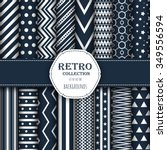 collection of seamless patterns ... | Shutterstock .eps vector #349556594