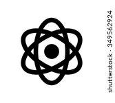 atom icon. atom symbol.   Shutterstock .eps vector #349562924