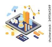 flat 3d isometric business... | Shutterstock .eps vector #349564349